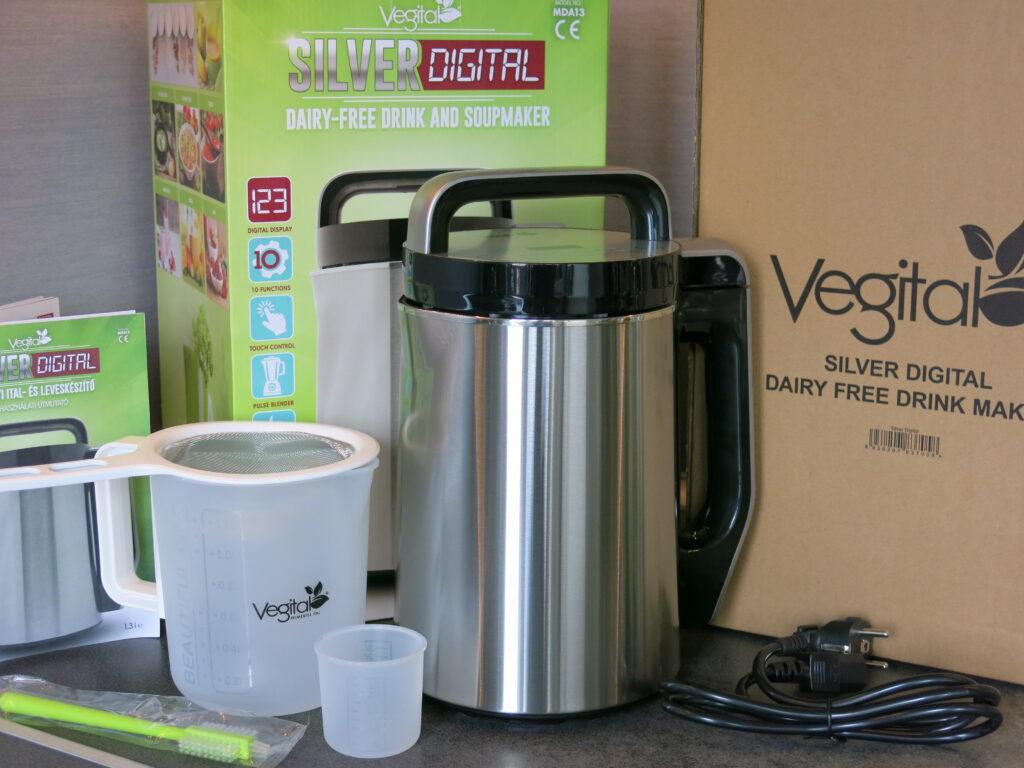 Urządzenie do przygotowania napojów roślinnych Vegital Silver Digital